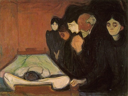 edvard munch, death bed, end of life