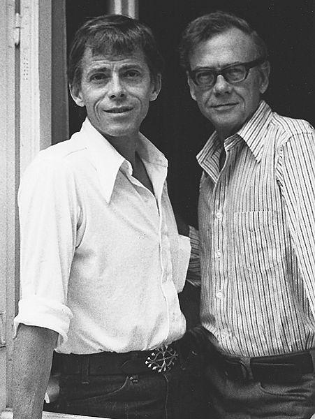 James Merill with his partner David Jackson in 1973
