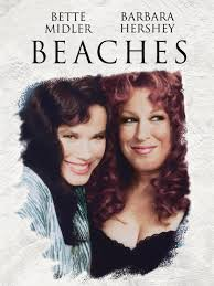 Beaches poster, Bette Midler poster, Beach movie, Beaches 1988, Barbara Hershey, Barbara Hershey Beaches