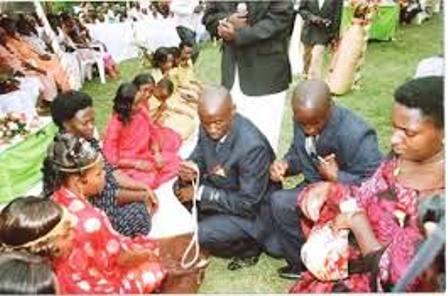 Banyankole tribe gathering during mourning