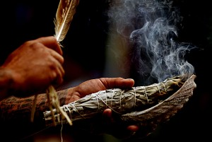 Sage smudge for Sacred Space