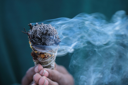 smudging a sacred space