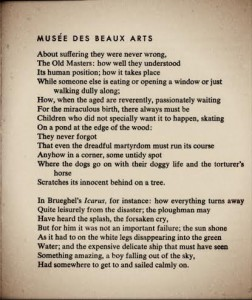 Musee Des Beaux Arts. WH Auden.