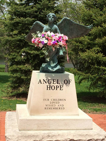 An Angel of Hope statue