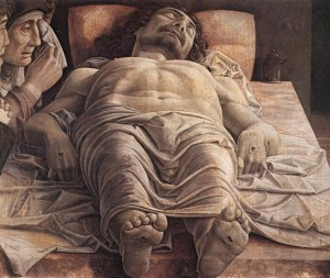 """Lamentation of Christ"" Andrea Mantegna (1480) (Credit: wikipedia.org)"