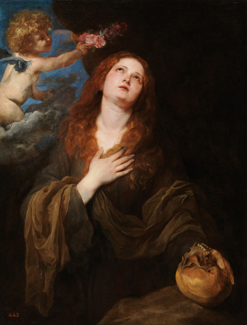 """Saint Rosalie Crowned with Roses by Two Angels"" Anthony Van Dyck (1624) (Credit: Tumblr.com)"
