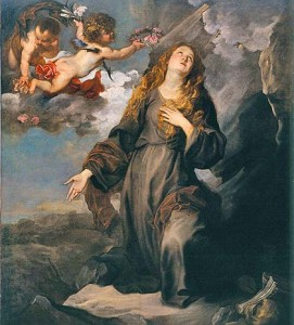 saint rosalie in glory plague