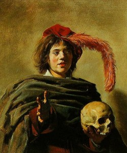 Young Man Holding a Skull by Frans Hals, 1626