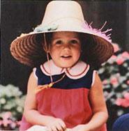 Kristen wearing a hat