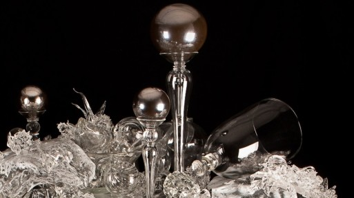 glass artwork by beth lipman exploring death and mortality