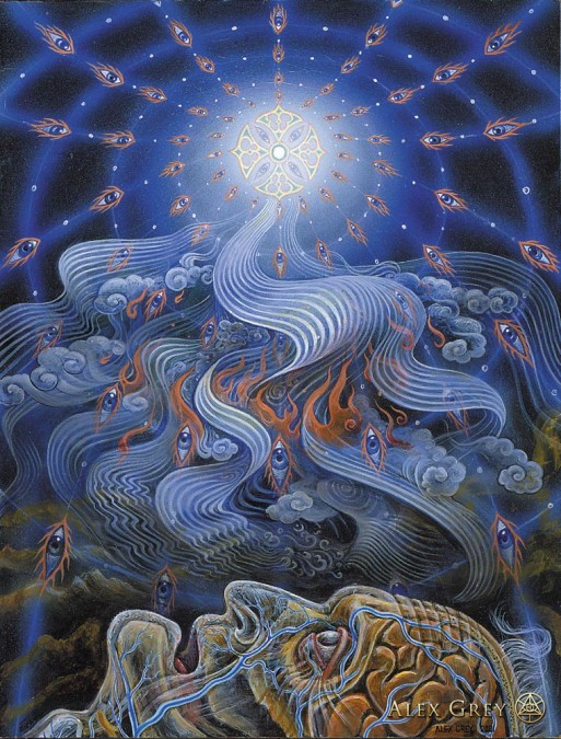 """The Soul Finds It's Way Home"" by Alex Grey Credit: alexgrey.com"