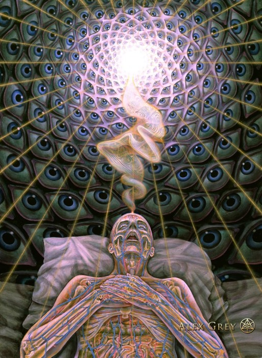 """Dying"" by Alex Grey Credit: alexgrey.com"