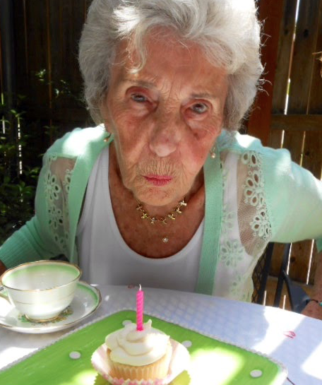 Aging Woman on her birthday
