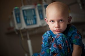 child with cancer, cancer, monitor, hospital