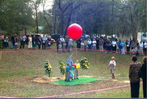 ashes in balloon memorial