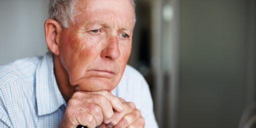 Depressed elderly dying inside