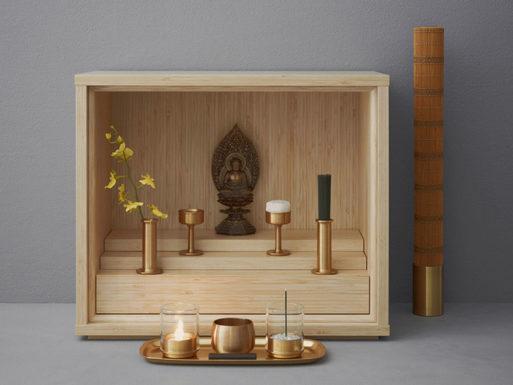 minimal modern altar