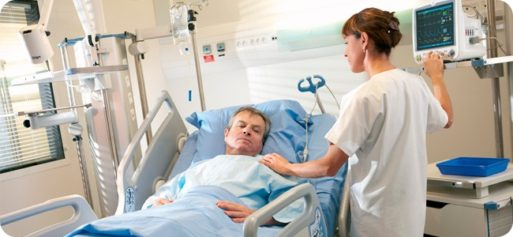 Hospitalized elderly patients who stay in bed have poorer outcomes