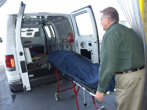 transporting a body in a van today