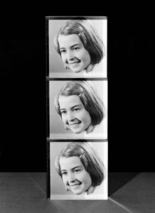 Three of the same photograph of Peter Watkins' mother when she was 9 years old