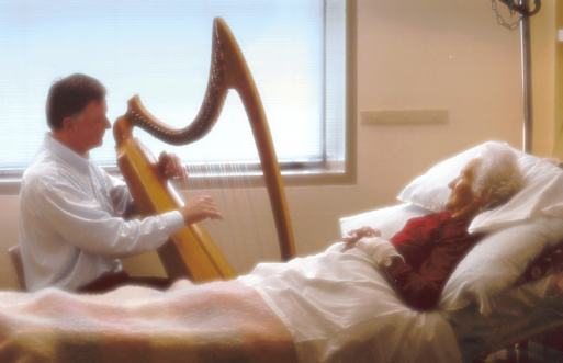 Peter Roberts explores death and dying through music played on the harp
