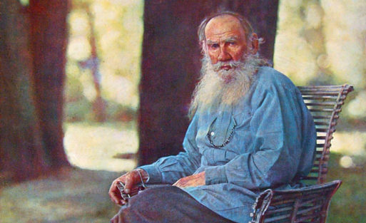portrait of Tolstoy