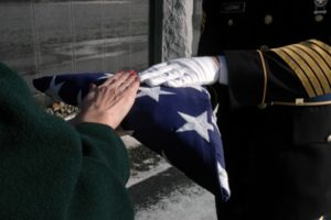 The folded flag is another part of military honors