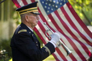The playing of Taps is a military honor