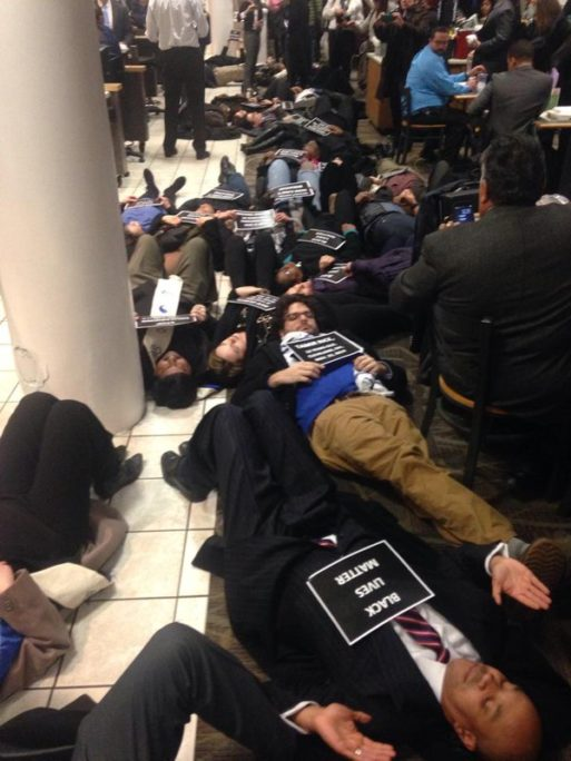Black Lives Matter Die-In