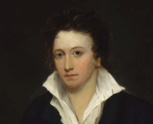 Portrait of Percy Bysshe Shelley author of Bereavement