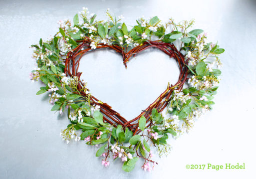 handmade heart of flowers