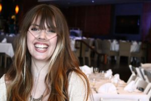 Portrait of Claire Wineland smiling