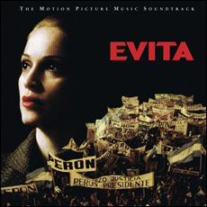 Madonna sings the role of Evita
