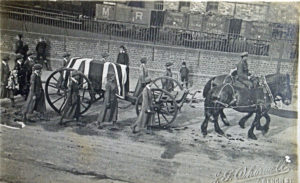 A simple procession after a death due to flu