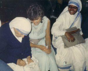 Mother Teresa and Cassandra Christensen talk about AIDS