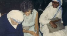 Mother Teresa and Cassandra Christensen