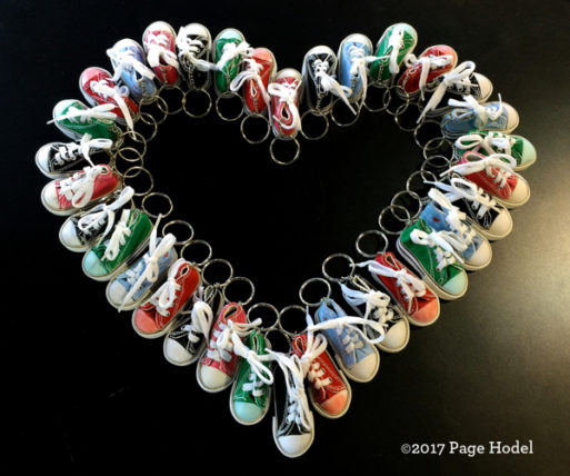 Heart made of sneakers