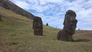 Moai statues symbolizing Easter Island because rapamycin was first discovered there