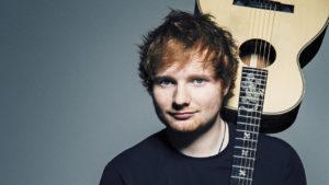 Ed Sheeran with his guitar