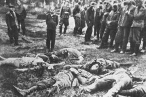 Death in a concentration camp