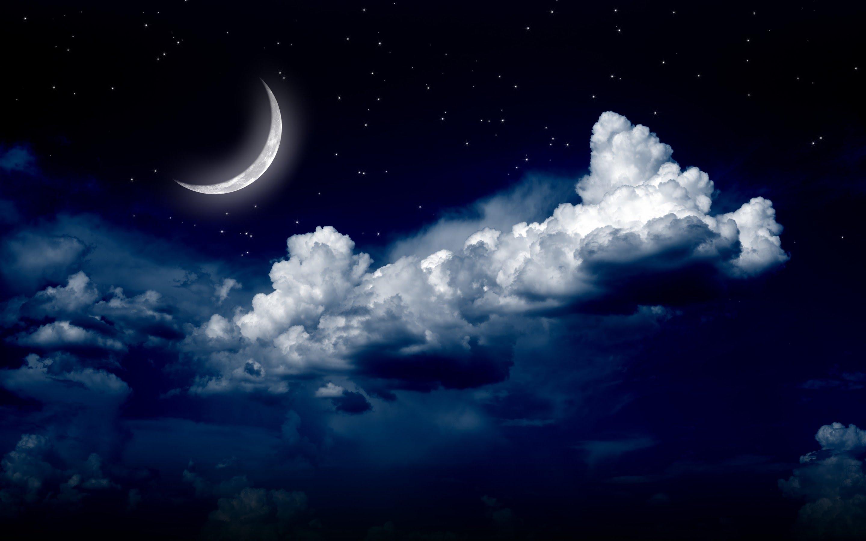 Night Moon Romance Love Stars Sky Clouds Wallpaper: SevenPonds BlogSevenPonds Blog