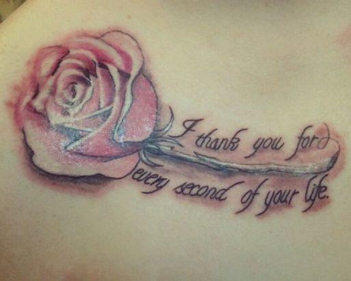 rose memorial tattoo