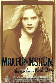 The cover of Malfunkshun, the documentary about Andrew Wood, featuring a portrait of the singer