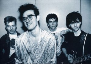 Photo of The Smiths band who sing Cemetry Gates