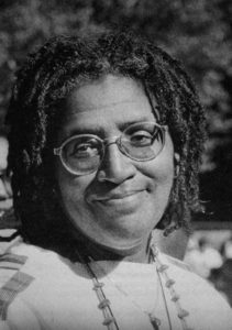 Portrait of the poet Audre Lorde