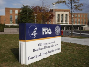 Front entry sign to the FDA headquarters