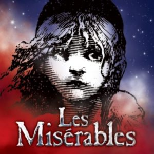 "Poster for the musical ""Les Miserables"" which features the song ""Empty Chairs at Empty Tables"""