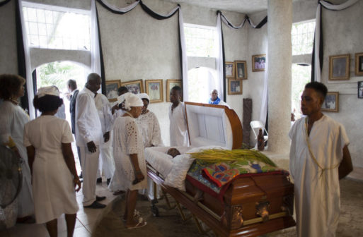 Funeral of Vodou practitioner Max Beauvoir