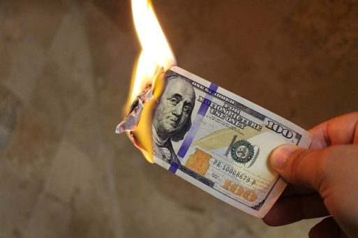Burning money to be Selling eternal life