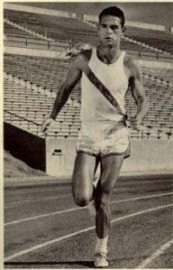 John Baker tries to break the four-minute mile